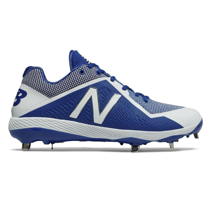 Royal Blue With White L4040tb4 Low Cut Metal Cleat