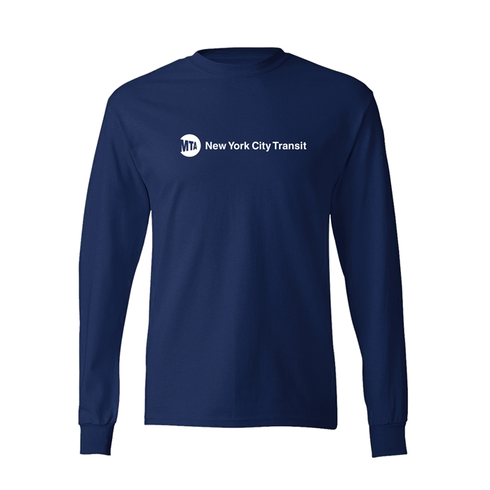 Tagless comfortsoft mta new york city transit long sleeve for Nyc custom t shirts