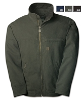 CD1964 Solid Duck Fleece Lined Long Jacket