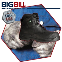 BB6200 Traction Black Full Grain Leather Boot
